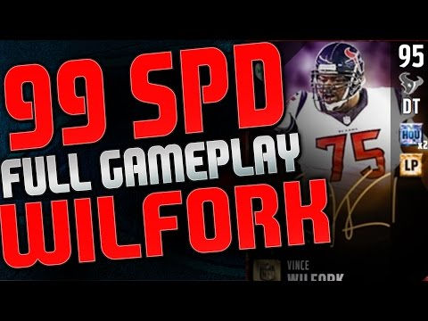 EA LINEMEN GLITCH EXPOSED! 99 SPEED VINCE WILFORK IN MUT SERIOUSLY!!  MUT 17 FULL GAMEPLAY!