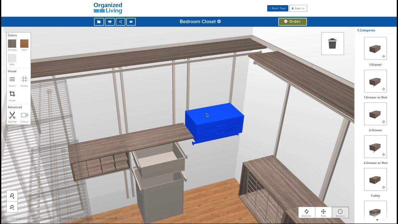 New 3D Closet Design Tool | OrganizedLiving.com   YouTube