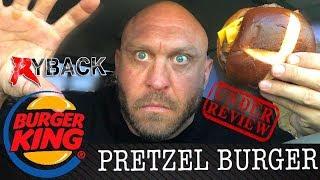 Burger King Double Pretzel Bacon Cheese Burger Food Mukbang Review - Ryback TV