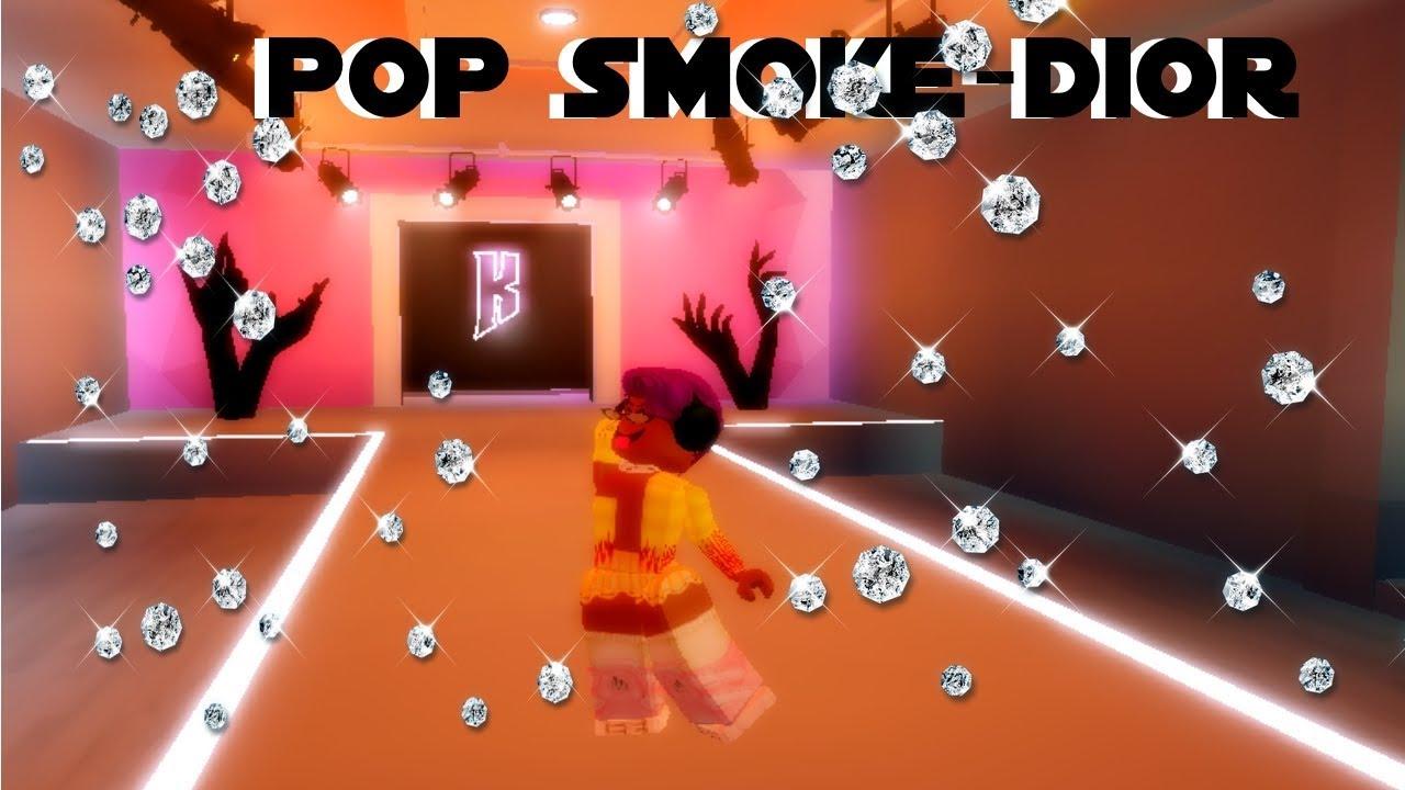 Pop Smoke Dior Roblox Music Video Youtube
