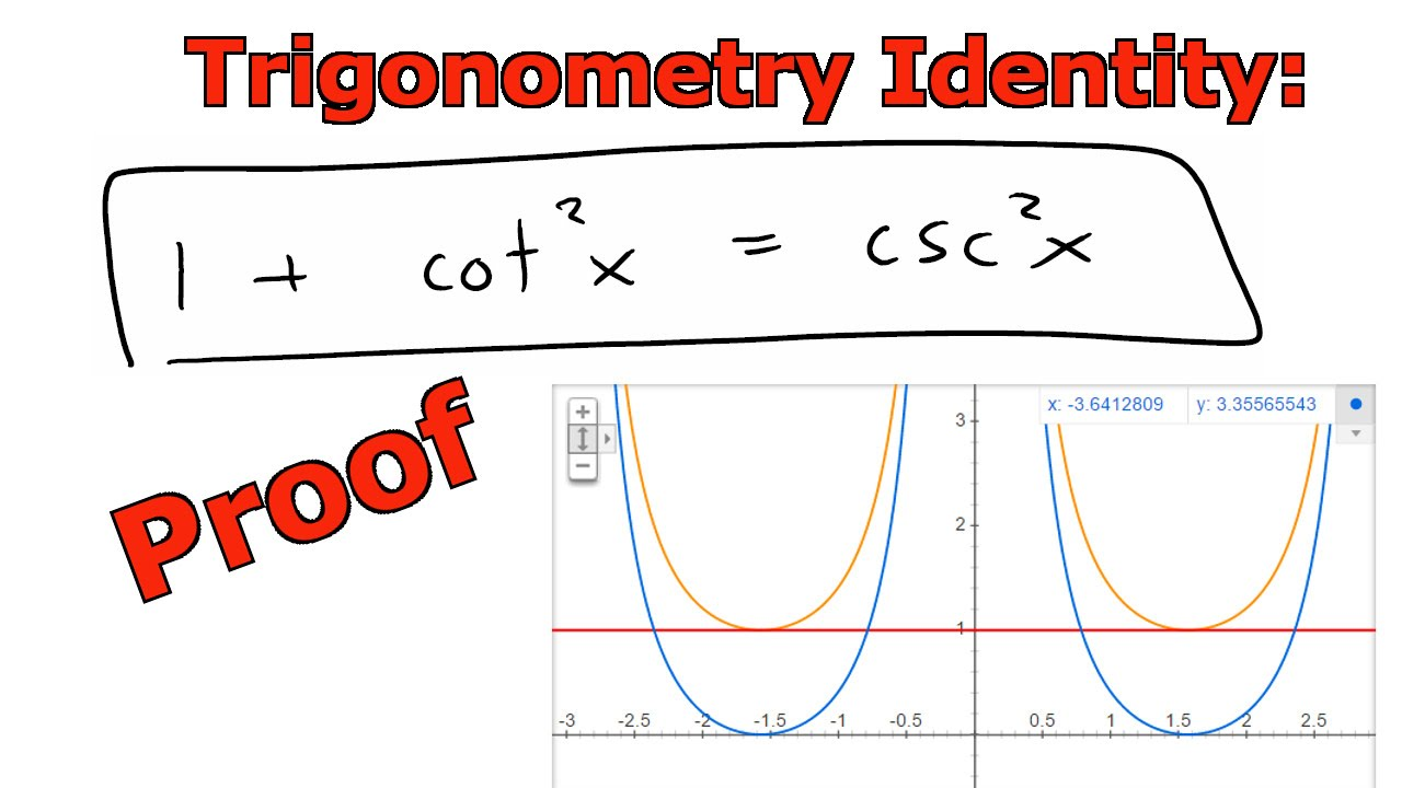 Trigonometry Identity: 1 + cot^2(x) = csc^2(x) - YouTube