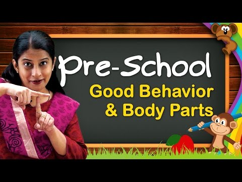 Pre School Learning For Kids | Colors, Shapes, Body Parts, Time, Good Behavior | Pre School Videos