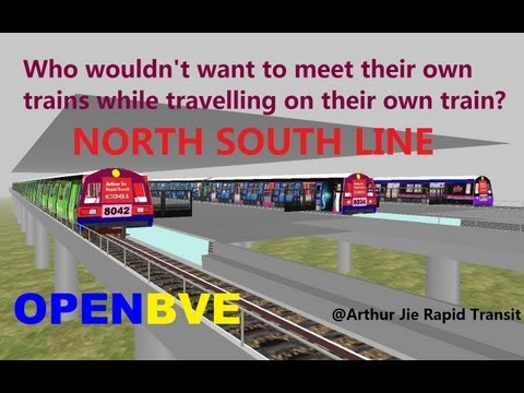 [OpenBVE][AJRT][Route Play] North South Line, Meeting your Own Trains (Generation 4)