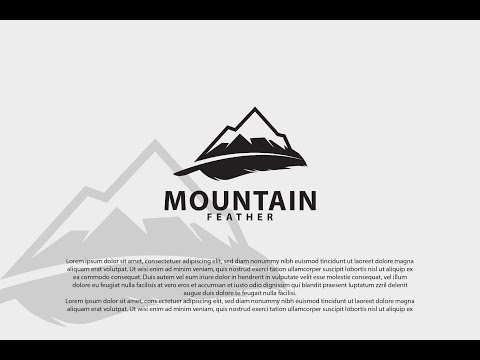 Professional Logo Design - Adobe Illustrator Tutorial - How To Make Nature Logo Design Style thumbnail