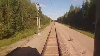 Travelling with IC 65 from Kontiomäki to Vaala
