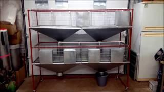 Обзор Клетки для 40 кроликов на откорме