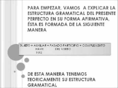 Estructura Gramatical Del Ingles Wmv Youtube