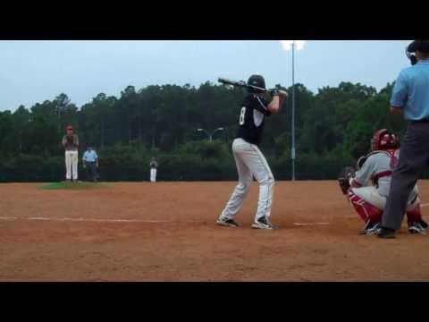 Fall 2013;  Landen Leiser, #8, playing for 15U Diamond Baseball Center travel team