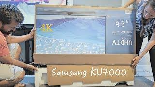 Unboxing the Samsung KU7000 4K TV