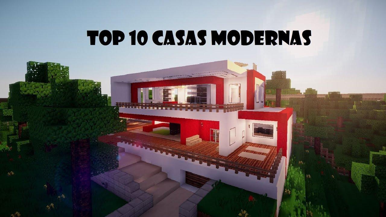 Top 10 casas modernas minecraft youtube for Casas modernas 10 x 20
