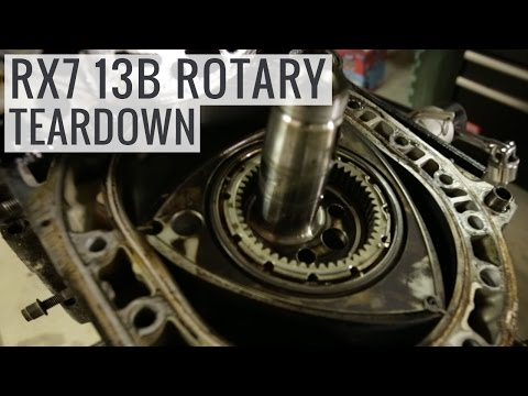 Mazda RX7 13B Rotary Engine Teardown