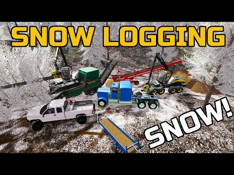 FARMING SIMULATOR 2017 | LOGGING IN THE SNOW | MULTIPLAYER | WOOD-CHIPPING