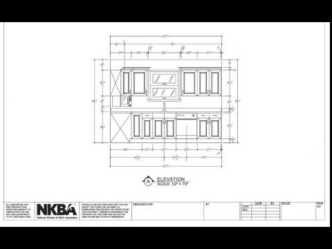 Kitchen And Bath Drawing Elevations Youtube