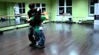 Tango lesson, tango Escenario. Dana Frigoli y Adrian Ferreyra, Waite tango festival.