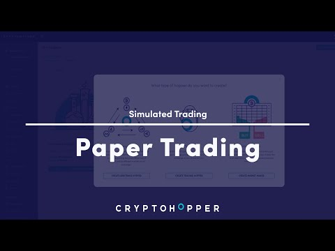 Paper Trading (Simulated Trading) – Cryptohopper