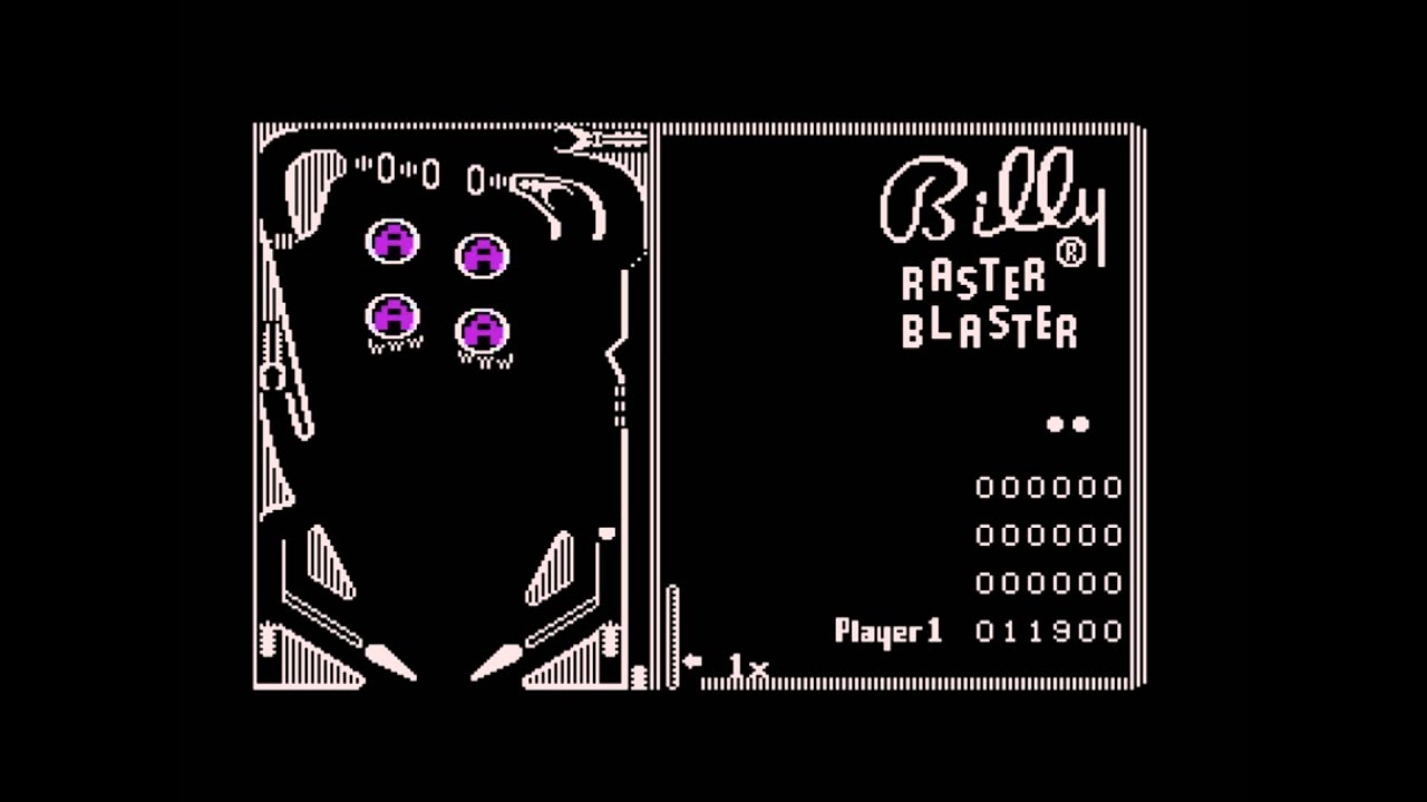 Pinball construction set - Raster Blaster For The Atari 8 Bit Family