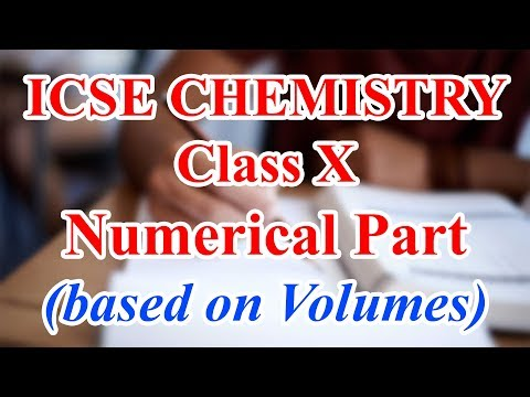 Numericals on Mole Concept and Gay Lussac's Law | ICSE Chemistry