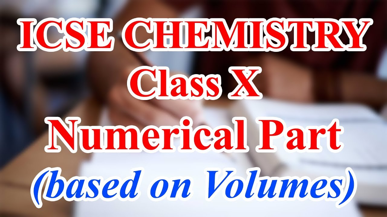 Numericals on Mole Concept and Gay Lussac's Law | ICSE Chemistry Class 10