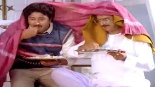 Alludugaru Movie || Sudhakar & Gollapudi Maruti Rao Comedy Scene  || Mohan Babu, Shobana