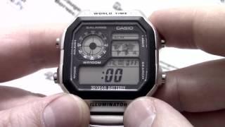 Годинник Casio Illuminator AE-1200WHD-1A - Інструкція, як налаштувати від PresidentWatches.Ru