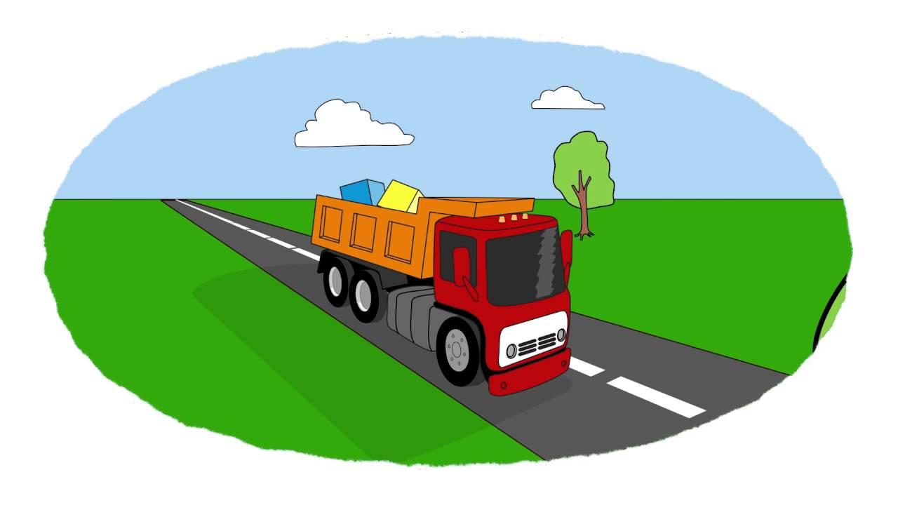 A colorear! - Autos para niños - Un autobús, un camión, un camión ...