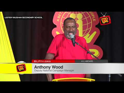 Anthony Wood at the Community Meeting in St. Thomas