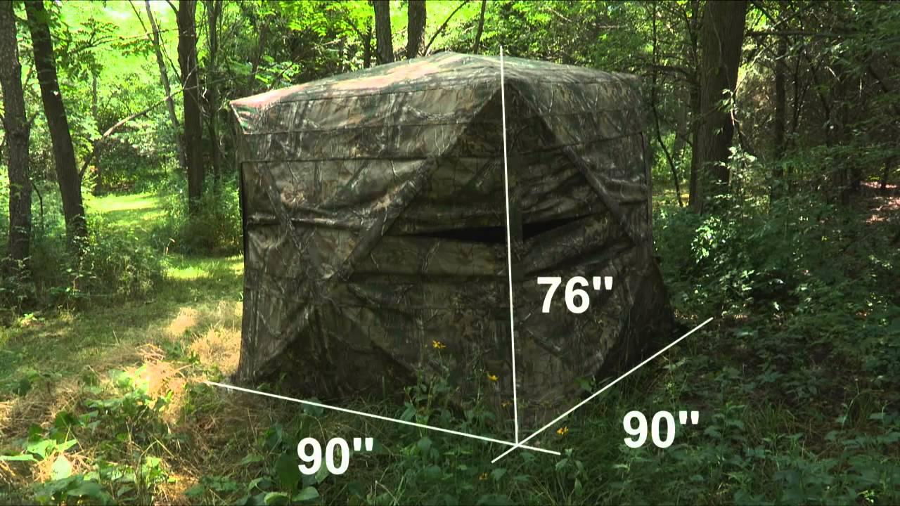 Blackout X300 Ground Blind At Bass Pro Shops Youtube