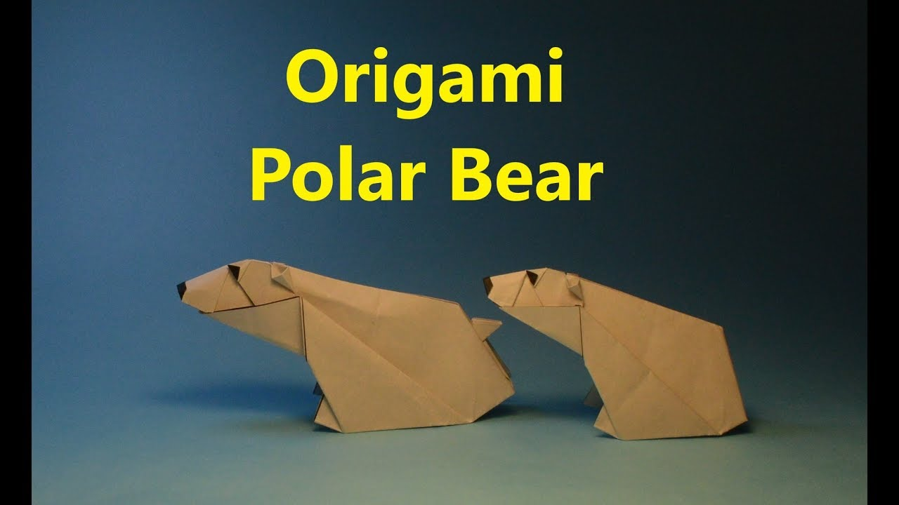 Simple Polar Bear Origami - Red Ted Art - Make crafting with kids ... | 720x1280