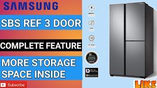 Samsung Refrigerator 3 Door 689L Samsung Side by Side Ref Get More Storage Space Inside SpaceMax