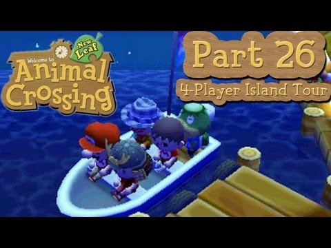 Animal Crossing: New Leaf - Part 26: 4-Player Tortimer Island Tours!  Hide-and-Seek!