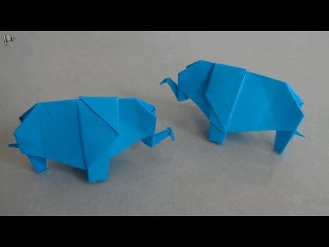 Origami Elephant (easy) - Tutorial [HD] - YouTube | 360x480