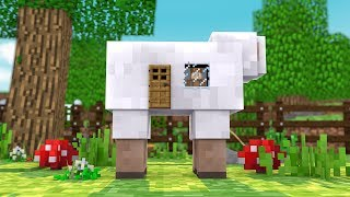 HOW TO LIVE INSIDE A SHEEP IN MINECRAFT!