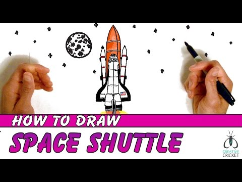 How To Draw A Spaceship Step By Step   Art Lesson For Kids