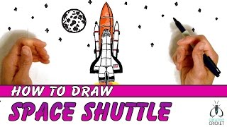 How to Draw and Color a Space Shuttle (Part 1)