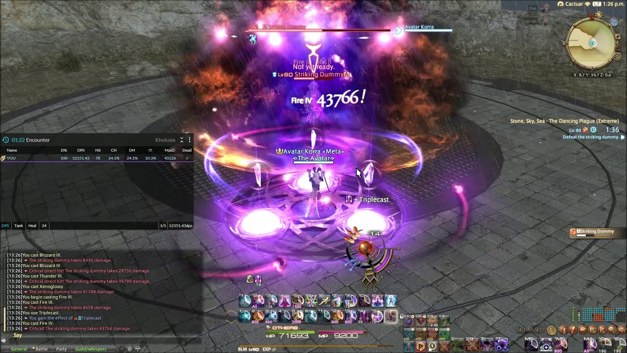 Repeat Shadowbringers Black Mage - Stone, Sky, Sea 12 9k dps