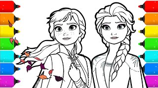 Frozen 2 Elsa And Anna Drawing And Coloring