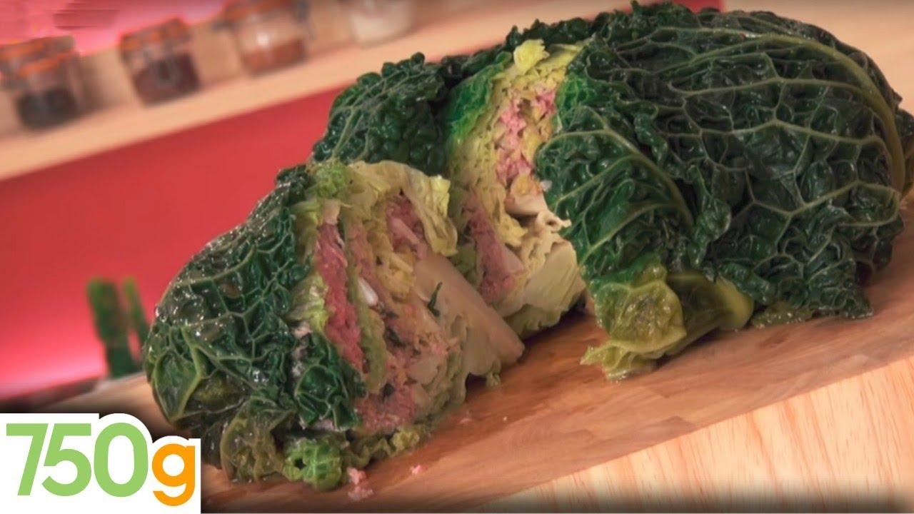 Recette du chou farci 750g youtube - Comment cuisiner un choux vert ...