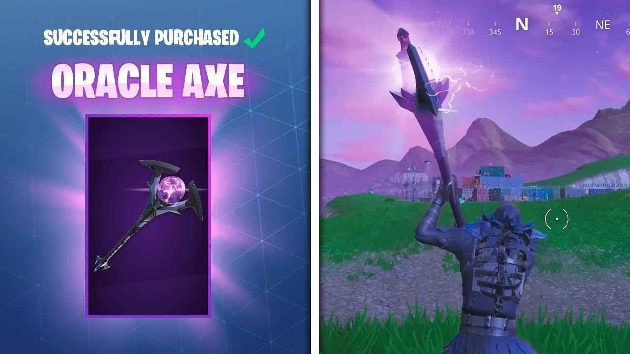 new oracle axe harvesting tool fortnite battle royale - new fortnite axe