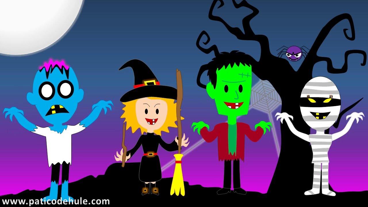 Canci n de halloween para ni os un monstruo en la - Dibujos de halloween ...