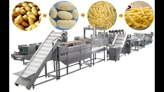 Fully Automatic Potato Chips Making Production Line| Potato Chips Making Machine
