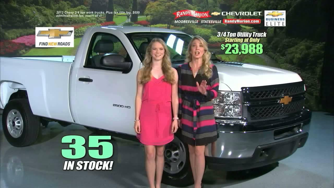 August 2014 Randy Marion Chevrolet Trucks Commercial - YouTube
