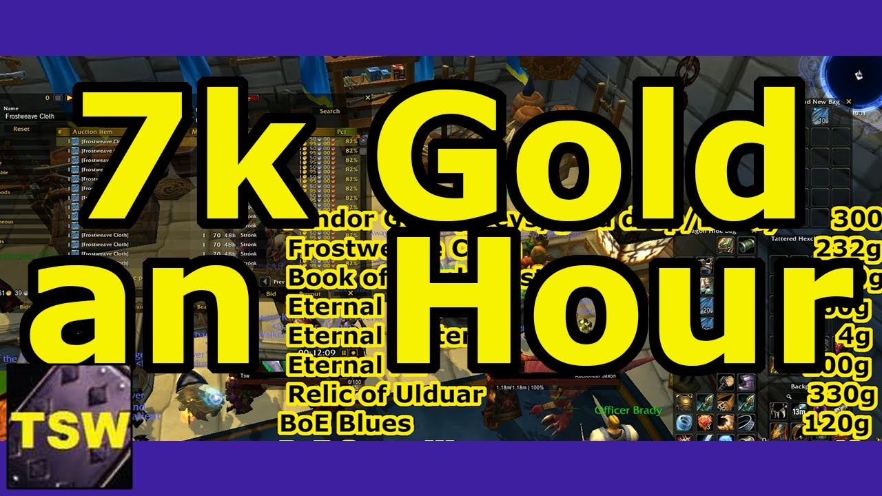 7000 Gold An Hour World Of Warcraft Gold Farming Guide With Tsw Youtube