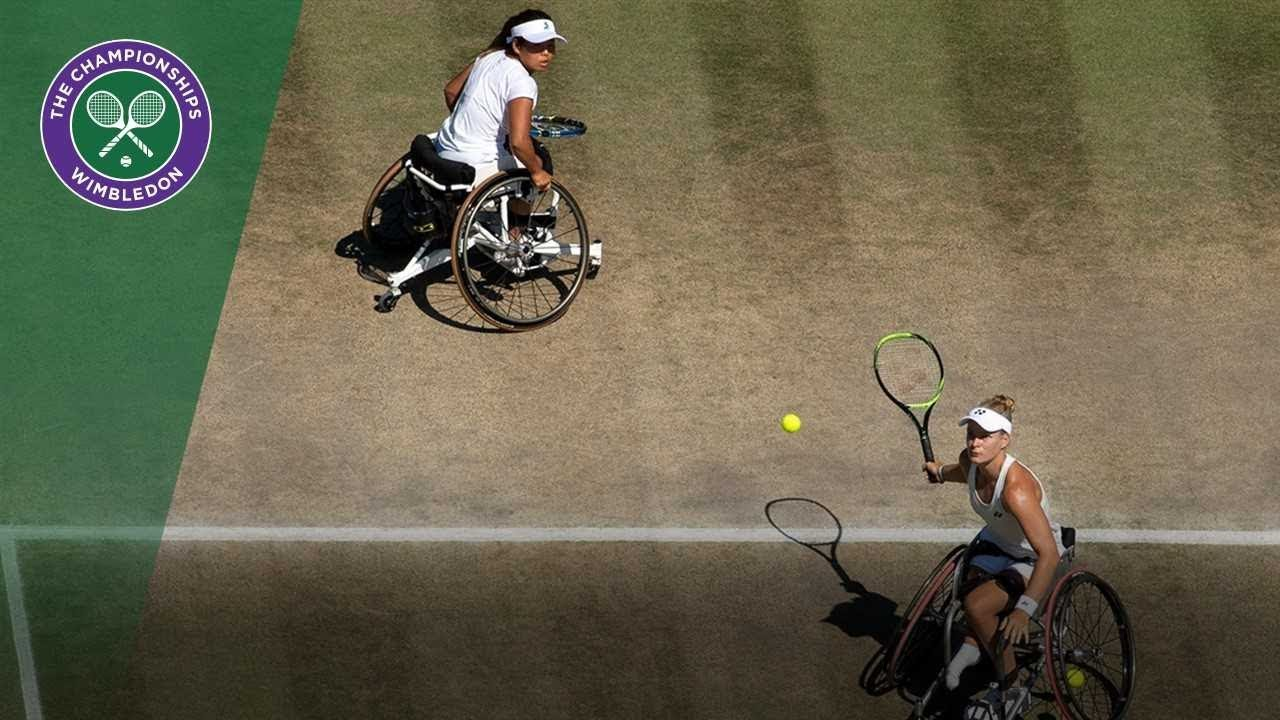 De Groot and Kamiji are crowned ladies' wheelchair doubles champions | Wimbledon 2018