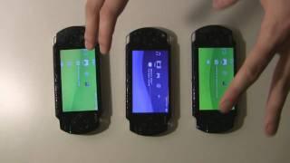 Comparações entre os modelos 1000, 2000 e 3000 do PSP (parte 01).