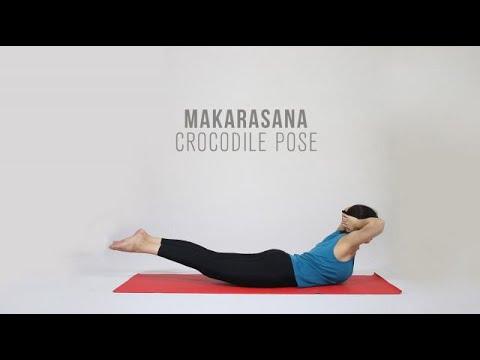 How to do Makarasana Crocodile Pose