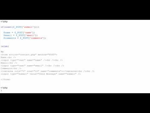 How to Make a PHP Contact Us Form With Form Validation - Better Audio - ThePS3GamingShow