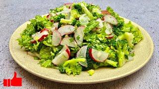 Новый ВКУСНЫЙ САЛАТ ИЗ БРОККОЛИ с редиской | Вкусные и Простые Рецепты салатов для ПП и похудения