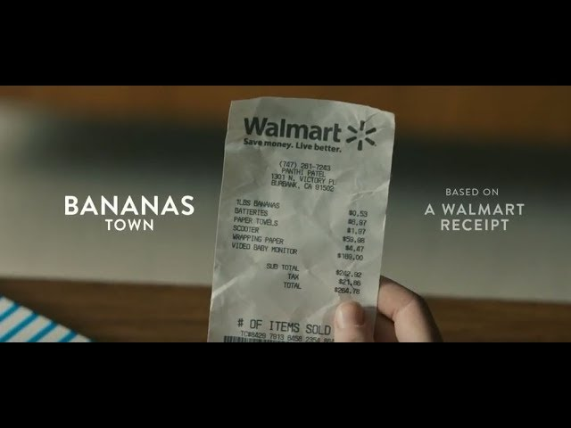 "Walmart ""Receipt"" Commercial Ft. CASME' by Seth Rogen and Evan Goldberg  Bananas Town"
