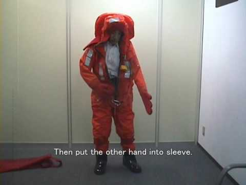 Immersion Suit Wearing Instruction Youtube