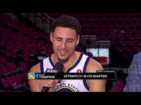 Klay Thompson Joins Live Postgame